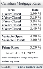 Ratebot.ca: Mortgage Rates List
